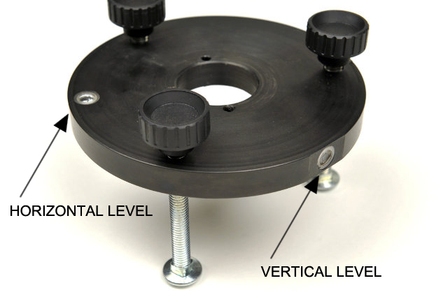 Alignment Plate showing both horizontal and verticle Levels